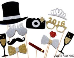 2017 New Year's Eve Photo Booth Props от Studio120Underground