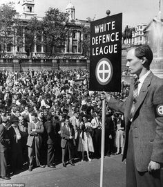 1959 | Racial tensions: Members of the White Defense League preach violence and hatred towards Black Immigrants at Trafalgar Square, London, on March 24, 1959. It was hardly news that not all whites viewed the country's 165,000 or so non-white immigrants with unalloyed enthusiasm. It was ten years since the SS Empire Windrush had brought the first boatload of West Indians to Britain to work, and numbers had been steadily growing. Immigration was running at over 40,000 a year.