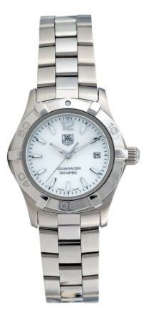 TAG Heuer Womens WAF1414.BA0823 Aquaracer Stainless Steel Mother-of-Pearl Dial Watch: Watches: Amazon.com