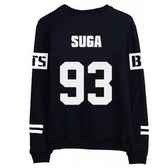 BTS Bangtan Boys V Sweater Shirt JIMIN JIN SUGA Shirt Jacket Pullover ($16) ❤ liked on Polyvore featuring tops, bts, sweaters, clothing - ls tops and kpop