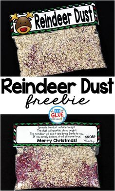 Reindeer Dust is the perfect free printable for your students or your child's friends at school. This fun activity will make their Christmas magical. It is perfect for preschool, kindergarten, and first grade students.  via @dabofgluewilldo