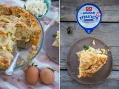 Μακαρονόπιτα με φέτα και γιαούρτι - madameginger.com Eggs, Forks, Spoons, Breakfast, Pie, Morning Coffee, Bobby Pins, Egg, Morning Breakfast