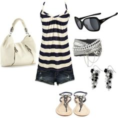 summertime, created by niccilange on Polyvore