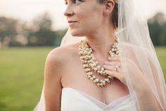 Chunky Gold Bridal Necklace.  Stella & Dot.