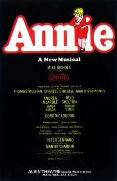 Annie the Musical - we love this original poster image!