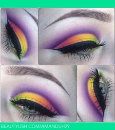 ☺ lid from inner to outer -acid berry buttercupcake flamepoint dollipop - crease poison plum -lashes red cherry 138 and 107 Eyeshadow Makeup, Hair Makeup, Eyes On The Prize, Colorful Eye Makeup, Makeup Designs, Eye Art, Makeup Inspiration, Makeup Ideas, Gorgeous Makeup