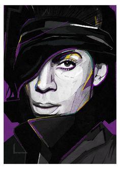 Prince | llustration art giclée print | Prince art portrait | Purple rain |music print,Wall Poster Art, Unique Art Print, portrait,A4|A3|A2|