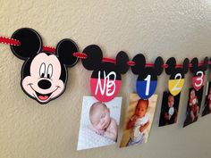Mickey Mouse Clubhouse bandera Mickey Mouse por CuddleBuggParties
