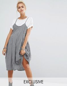 Image 1 of Milk It Vintage Pleated Cami Dress In Gingham