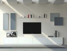 Ideas para conseguir un salón minimalista. Salones modernos / minimalistas. Mueble bajo TV en color blanco.