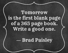 Blank page, blank canvas, here's to a fresh start.