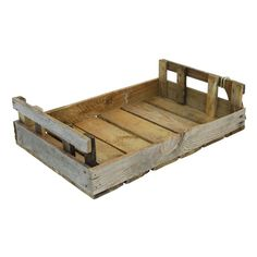 Dedicated Vintage Industrial Wooden Coopers Bakers Serving Tray Crate Trug Box Storage Antiques Reproduction Boxes/chests