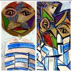 Kindergarten Picasso Lesson by geraldine