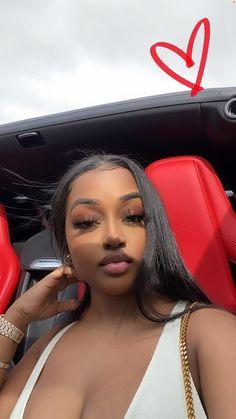 Beautiful Black Girl, Pretty Black Girls, Pretty Woman, Black Girl Makeup, Girls Makeup, Baddie Hairstyles, Black Girls Hairstyles, Maquillage Black, Looks Hip Hop