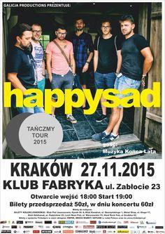 Relacja z krakowskiego koncertu grupy Happysad tutaj: http://heavy-metal-music-and-more.blogspot.com/2015/11/happysad-zagra-koncert-w-krakowskim.html