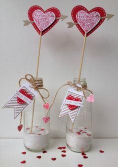Een flesje vol liefde. Leuk om te maken en nog leuker om te geven!