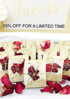 ~Unique Soap Favors For Every Occasion~ by BathByTerra Baby Shower Gifts For Guests, Wedding Favors For Guests, Wedding Ideas, Preparing For Retirement, Soap Favors, Organic Oil, Bridal Showers, Box Design, Rose Petals