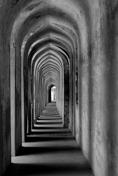 gallery that is part of the ancient and famous labyrinth at the Imambara (religious place for Muslims)