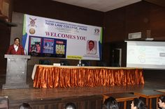 Dean and Principal of New law College Pune, Prof. Dr. Mukund Sarda addressing the new entrants of Law students during the induction programme on 20/07/2017