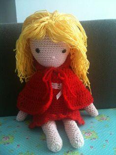 From the book My crochet  doll/ van het boek mijn gehaakte pop ... Gemaakt door Annemarie Evers