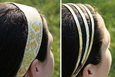 2 different style headbands. DIY.