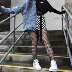 Outstanding Grunge Outfits Ideas For Women Hipster Outfits, Tumblr Outfits, Edgy Outfits, Outfits For Teens, Girl Outfits, Fashion Outfits, Cute Grunge Outfits, Grunge Clothes, Punk Fashion