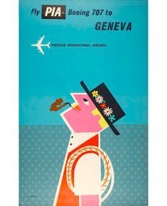 Tom Eckersley, Graphic Design, Illustration, 1960s, 1980s. Vintage travel poster.