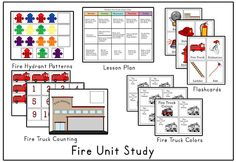 fire safety vocab cards and printables