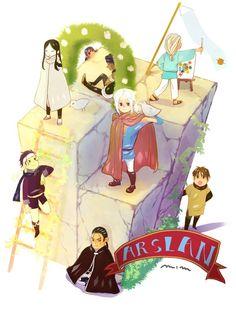 Main characters of Arslan Senki, Arslan Senki fanart