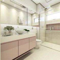 """1,873 curtidas, 60 comentários - • Arquitetura, Decor & Mais (@decoremais) no Instagram: """"Quanta delicadeza! ✨ Banheiro da Filha com detalhes em rosa e revestimento em auto relevo.…"""""""