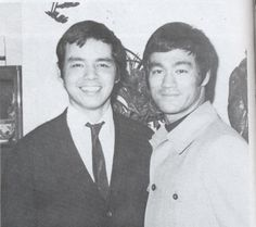 Bruce's brother, Peter and Bruce...
