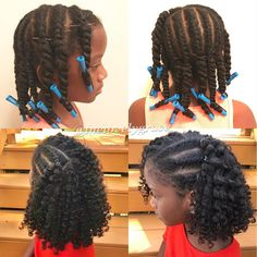 Flat Twist Out on Natural Hair