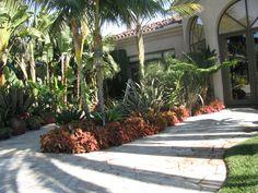 Rancho Santa Fe, California Residence tropical landscape