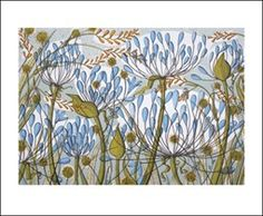 Agapanthus II, by Angie Lewin