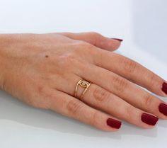 Evil eye ring for women 14K solid gold ring by KyklosJewelryLab