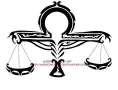 Libra Tribal by IkaikaDesign on DeviantArt Libra Scale Tattoo, Libra Sign Tattoos, Horoscope Tattoos, Libra Symbol, Libra Constellation Tattoo, Zodiac Constellations, Signo Libra, Dragon Koi Tattoo Design, Tribal Tattoos