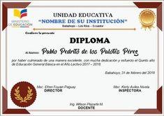 Diplomas editables en Word para Imprimir | AYUDA DOCENTE