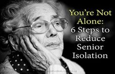 Social isolation in seniors can cause emotional and physical complications. Learn how to reduce health risks by reducing social isolation.