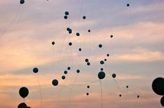 """balloon release after """"I now pronounce you man & wife"""" In Memory Of Dad, In Loving Memory, Funeral Planning, Funeral Ideas, Balloon Release, Loved One In Heaven, Memory Table, Funeral Memorial, Man And Wife"""