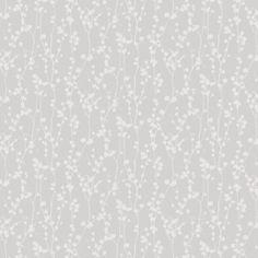BoråsTapeter Silent Nature kukkatapetti 2 valkoinen