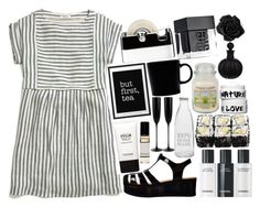 """""""monochromatic stripes."""" by eileennydia ❤ liked on Polyvore featuring Madewell, Retrò, Stila, Nature Girl, WALL, Garden Trading, Yankee Candle, iittala, Georg Jensen and Riedel"""