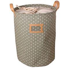 "Lovely Polka Dot Zakka Eco-friend Cotton Blend Linen Multi-fonction Dustproof Storage Round Buckets Laundry Bin Home Decor Bathroom Car Accessories (Green, 35cm * 45cm (13.78"" * 17.72"")) Leaveland http://www.amazon.com/dp/B00LO16F12/ref=cm_sw_r_pi_dp_2Owzub0Q8WN2R"