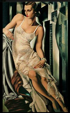 Tamara de Lempicka A very elegant painting.