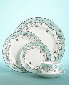 Wedgwood Martha Stewart Flourish in Robin's Egg- to complete my little mismatched set.
