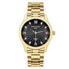 $16.99 Gold Tone DREAMING Q&P Mens Watch