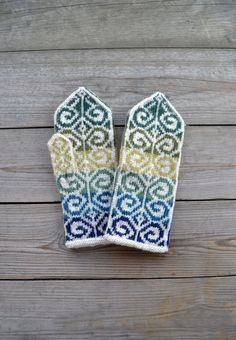 Knit Wool Gloves Bohemian Mittens Christmas Wool by lyralyra, $38.00