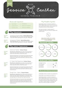 Professional Teacher Resume Template   Pages  Cover Letter