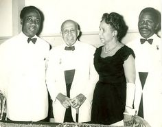 Kwame Nkrumah with WEB Dubois and Shirley Graham Dubois in Ghana at Republic Day ceremony, July 1, 1960.