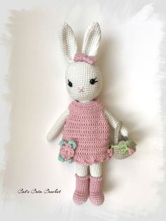Mesmerizing Crochet an Amigurumi Rabbit Ideas. Lovely Crochet an Amigurumi Rabbit Ideas. Crochet Bunny Pattern, Crochet Rabbit, Crochet Patterns Amigurumi, Love Crochet, Beautiful Crochet, Diy Crochet, Crochet Baby, Knitting Patterns, Crochet Amigurumi
