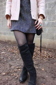 Romper forever - Aurorana (zara, pink coat, onver the knee boots, rebecca minkoff, mini mac)